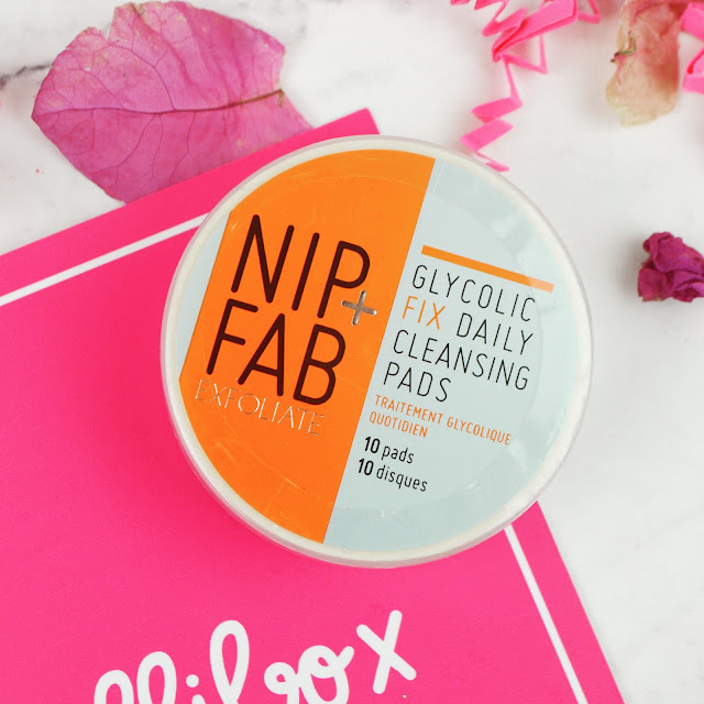 Lovelaughslipstick Blog - Review of February 2017's Dollibox Subscription Box Nip+Fab Daily Glycolic Fix Cleansing Pads