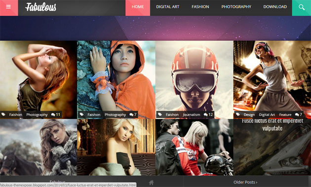 Mẫu Template BlogSpot nhiếp ảnh đẹp miễn phí