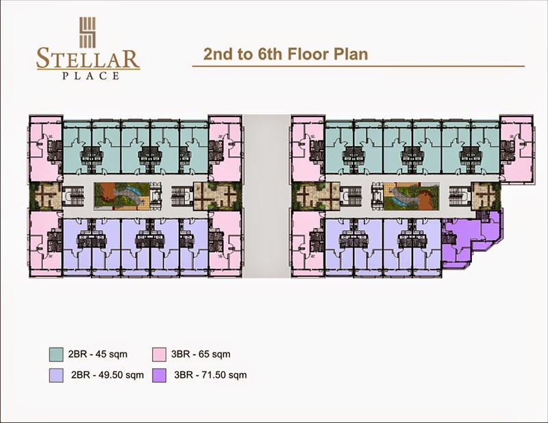 Stellar Place 2nd to 6th Floor Plan