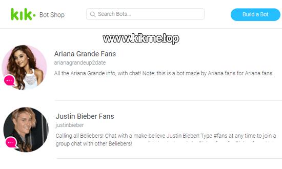 Chatea con Ariana Grande y Justin Bieber en Kik