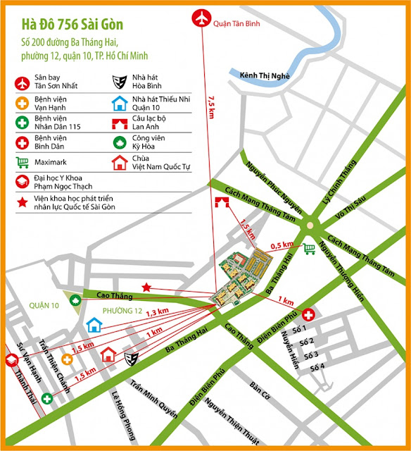 Tiện ích ngoại khu đa dạng của dự án Hà Đô Z756 Sài Gòn.