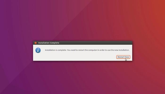 Restart Ubuntu | Installation of Ubuntu