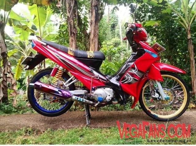 Vega ZR Merah Striping Spark RX