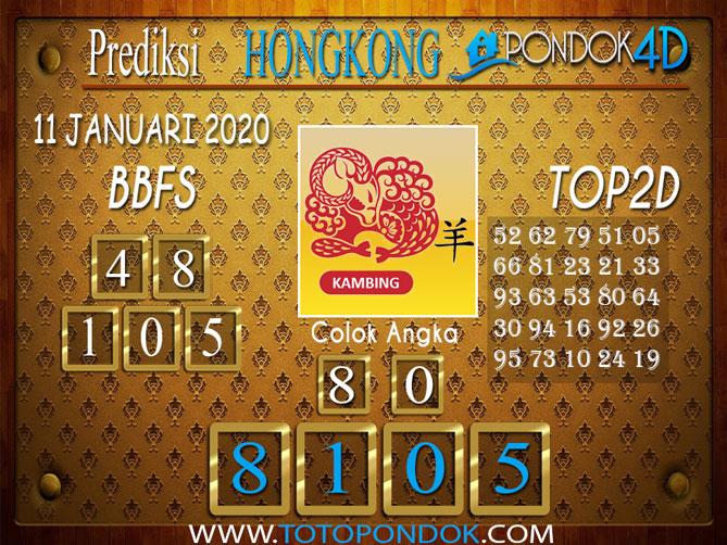 Prediksi Togel HONGKONG PONDOK4D 11 JANUARI 2020