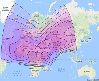 Footprint Satelit Arabsat 5A 30.5°E CBand