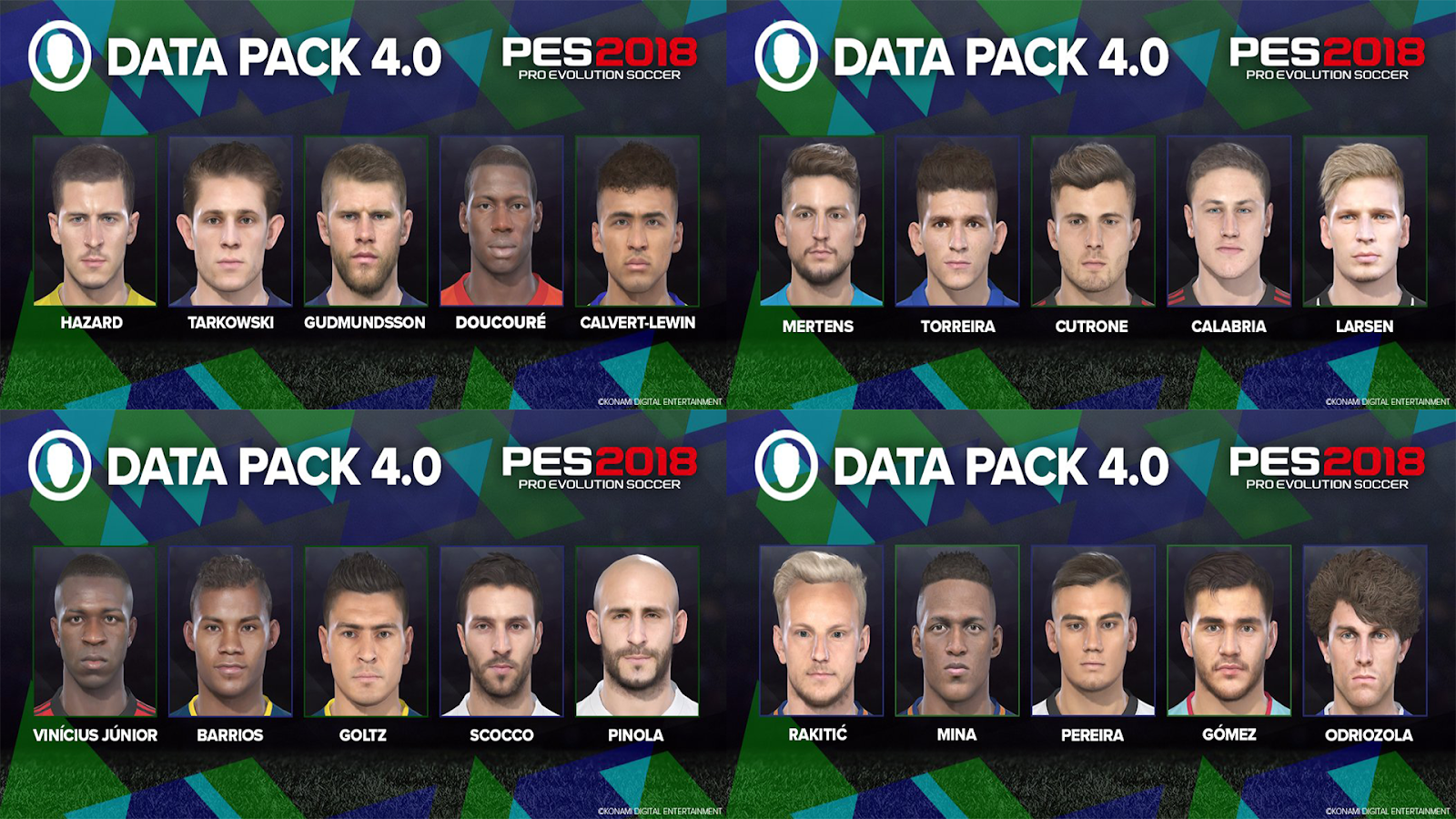PES ANDRI: PES 2018 Data Pack 4 [ DLC 4 0 ] CPY Version