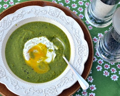 Very Very Green Green-Pea Soup | frozen peas plus a few pantry ingredients, a quick, warm, soul-satisfying soup | easily made vegan, Weight Watchers PointsPlus 3 | Kitchen Parade