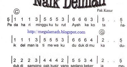 blog not angka dan not balok: Not Angka Lagu Naik Delman