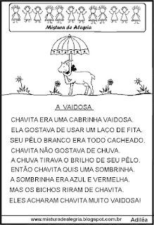 Leitura para alfabetização cabra