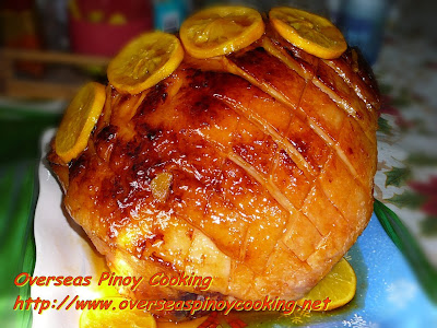 Orange Glazed Ham, Pinoy Style