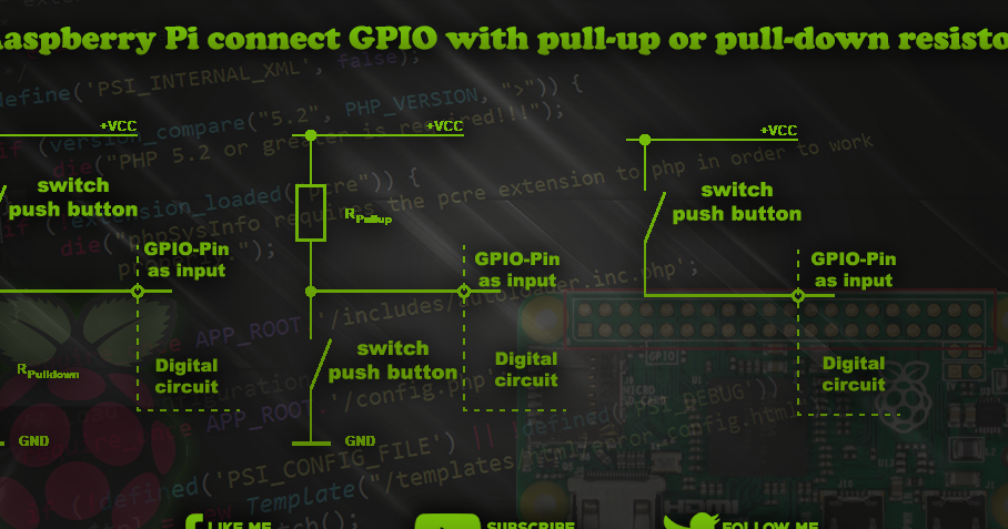 Raspberry Pi Connect Gpio With Pull Up Or Pull Down