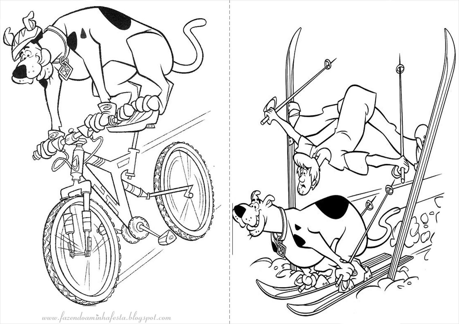 Fazendo A Minha Festa Para Colorir: Scooby Doo