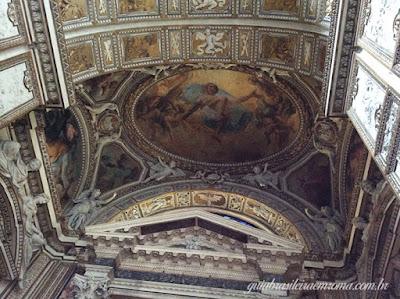 San Giovanni Fiorentini afresco Lanfranco - São João dos Florentinos