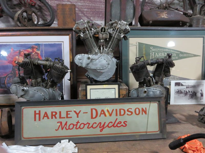 Harley Davidson Engine Display Wheels Through Time Museum