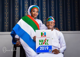 PHOTOS: Nigerian Couple Stun in Beautiful APC Themed Pre-wedding Photoshoot