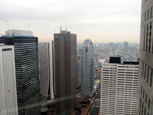 Vistas desde el mirador del ayuntamiento de Tokyo