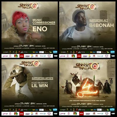 Kojo Cue, Article Wan, Kuami Eugene, B4 Bonah & Lil Win Join 2017 Ghana Meets Naija Lineup