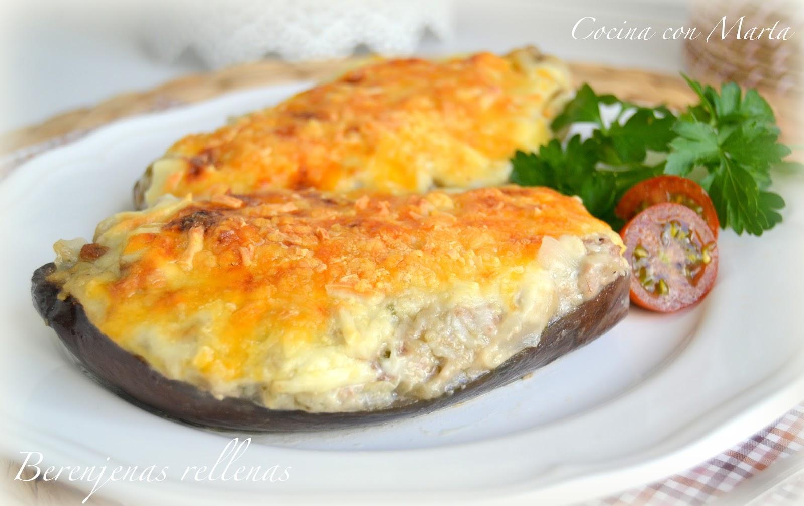 Cocina con marta recetas f ciles r pidas y caseras tenedor for Cocina berenjenas rellenas