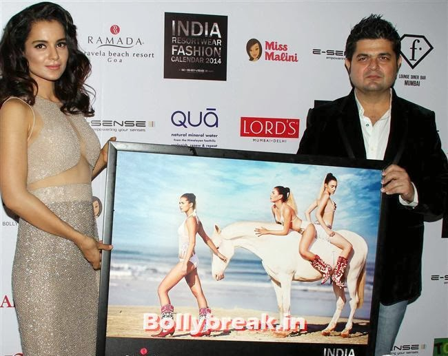 Kangana Ranaut and Dabboo Ratnani, Kangana, Evelyn, Pria sizzle at Resortwear Fashion Calendar Launch