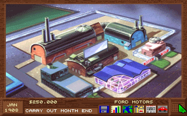 Screenshot of Detroit computer game Factory Screen