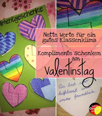 Bastelanleitung für tolle Herzen zum Valentinstag. Mit Eigenschaftsworten, Listen und einer Bastelanleitung. Auch geeignet für den Muttertag