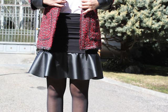 DIY falda con peplum de cuero