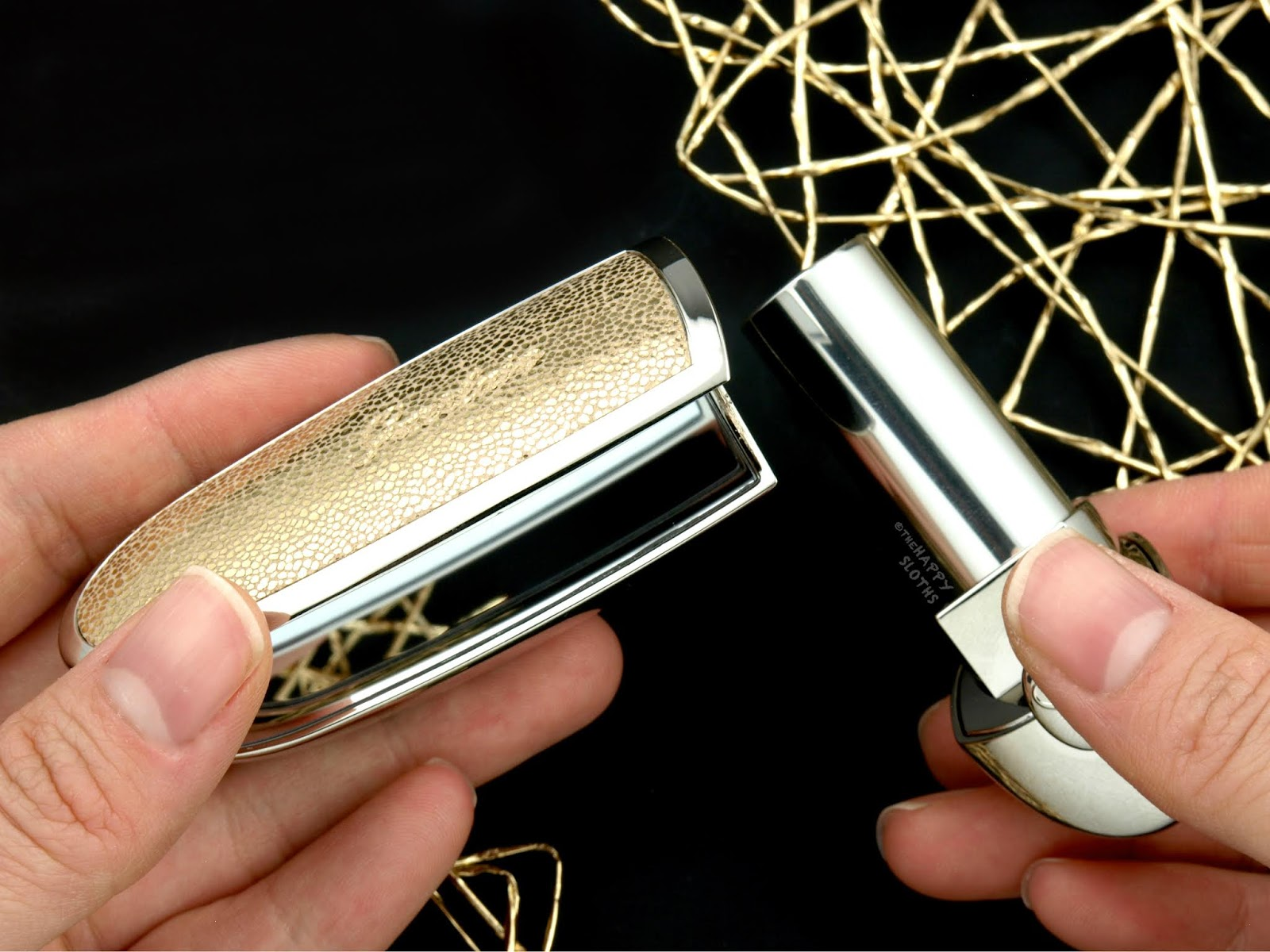 "Guerlain | Holiday 2018 Rouge G Customizable ""Electric Gold"" Case: Review and Swatches"