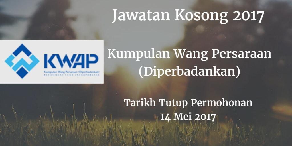 Jawatan Kosong KWAP 14 Mei 2017