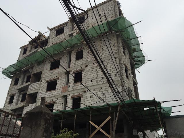 Tòa chung cư mini Nhật Tảo 7 đang đi vào hoàn thiện