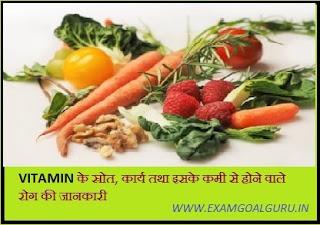vitamin kya hai, karya, iski kami se hone vale rog