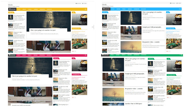 Mistik бесплатный шаблон для blogger на русском языке