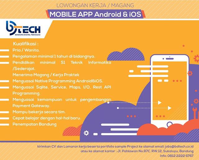 Lowongan Kerja Mobile App Android & iOS di Bandung