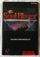Soul Blazer - Manual portada