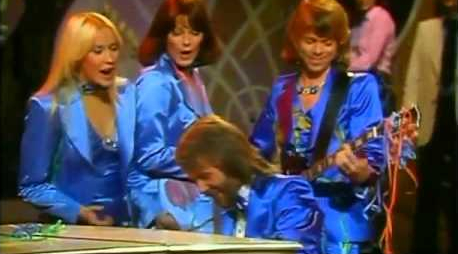 ABBA performs live.