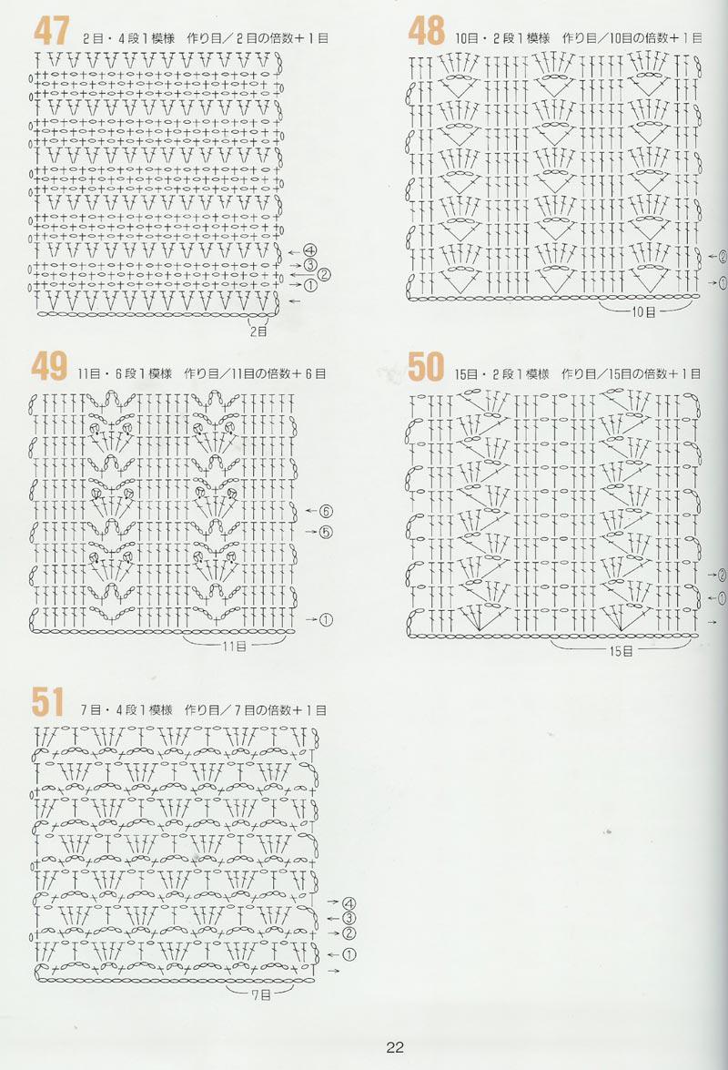 Punto Fantasía Crochet Con Explicación Del Patrón
