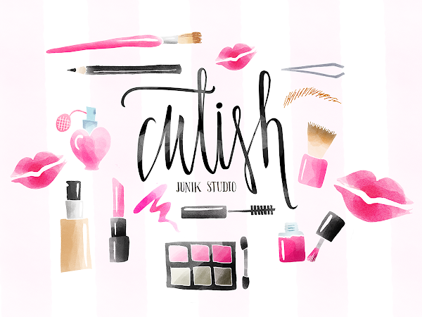 Download 13 Watercolor Make-up Elements Free