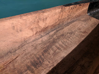 Shuar dugout canoe adze marks