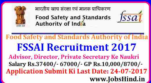 FSSAI Recruitment 2017