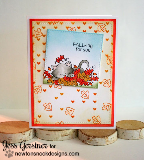 Fall Card by Jess Crafts using Newton's Nook Designs Stamptember Exclusive Hello Fall