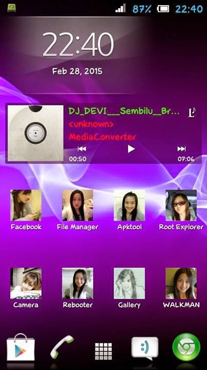 JB Xperia Metamorf for Advan S4C