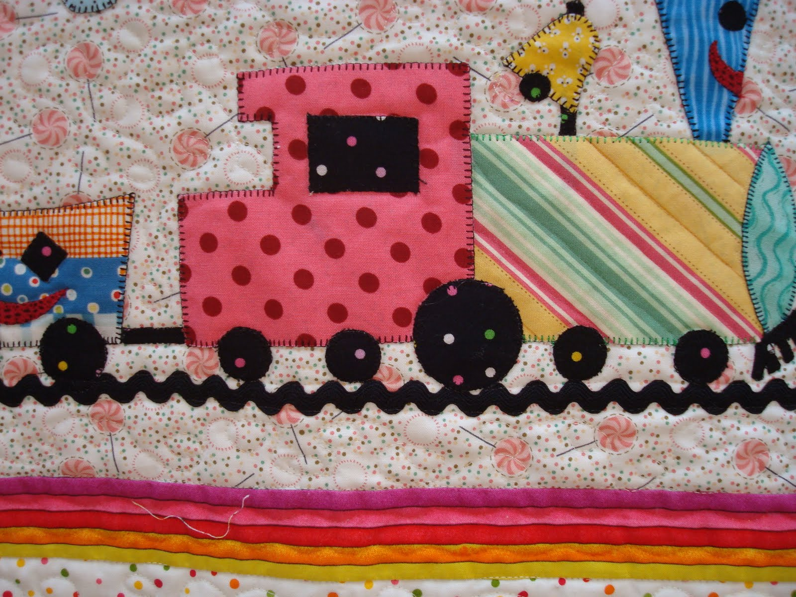 Just Quilts Choo Choo Train Quilt