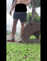 [1502] Outdoor jerk off