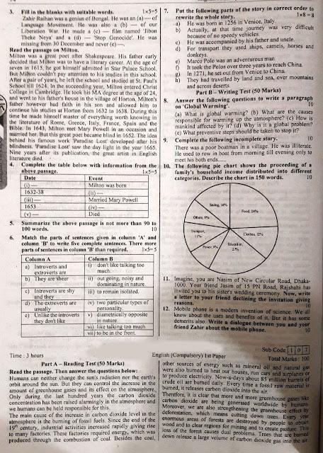 SSC English 1st Paper Model Model Question - 05