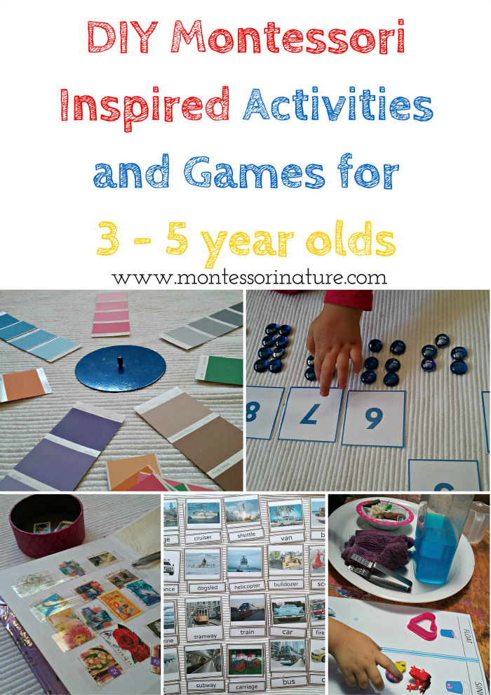 Diy Montessori Inspired Activities And Games For 3 5 Year Olds
