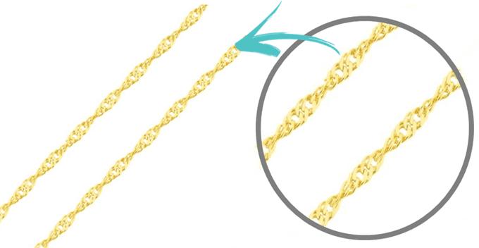 Corrente de ouro 18k singapura torcida 45cm (1)