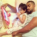 Salman Yusuff Khan with his daughter