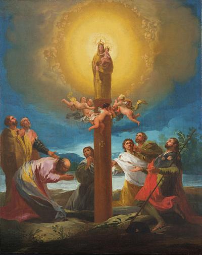 Resultado de imagen de virgen del pilar patrona d ela