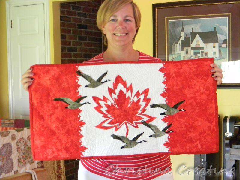 Christina Creating Canada150 Quilt
