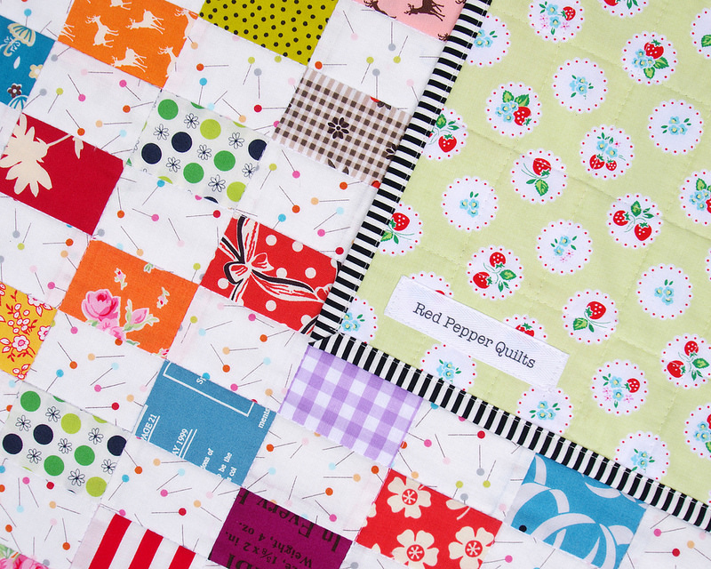 Rectangle Checkerboard Quilt - backing and binding | Red Pepper Quilts 2016