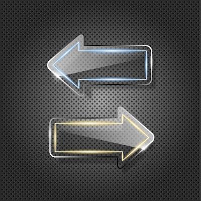 Vectores de flechas transparentes